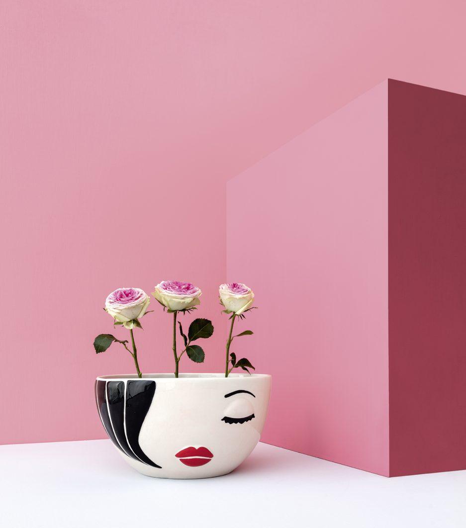Vaso moderno di design per piante e fiori