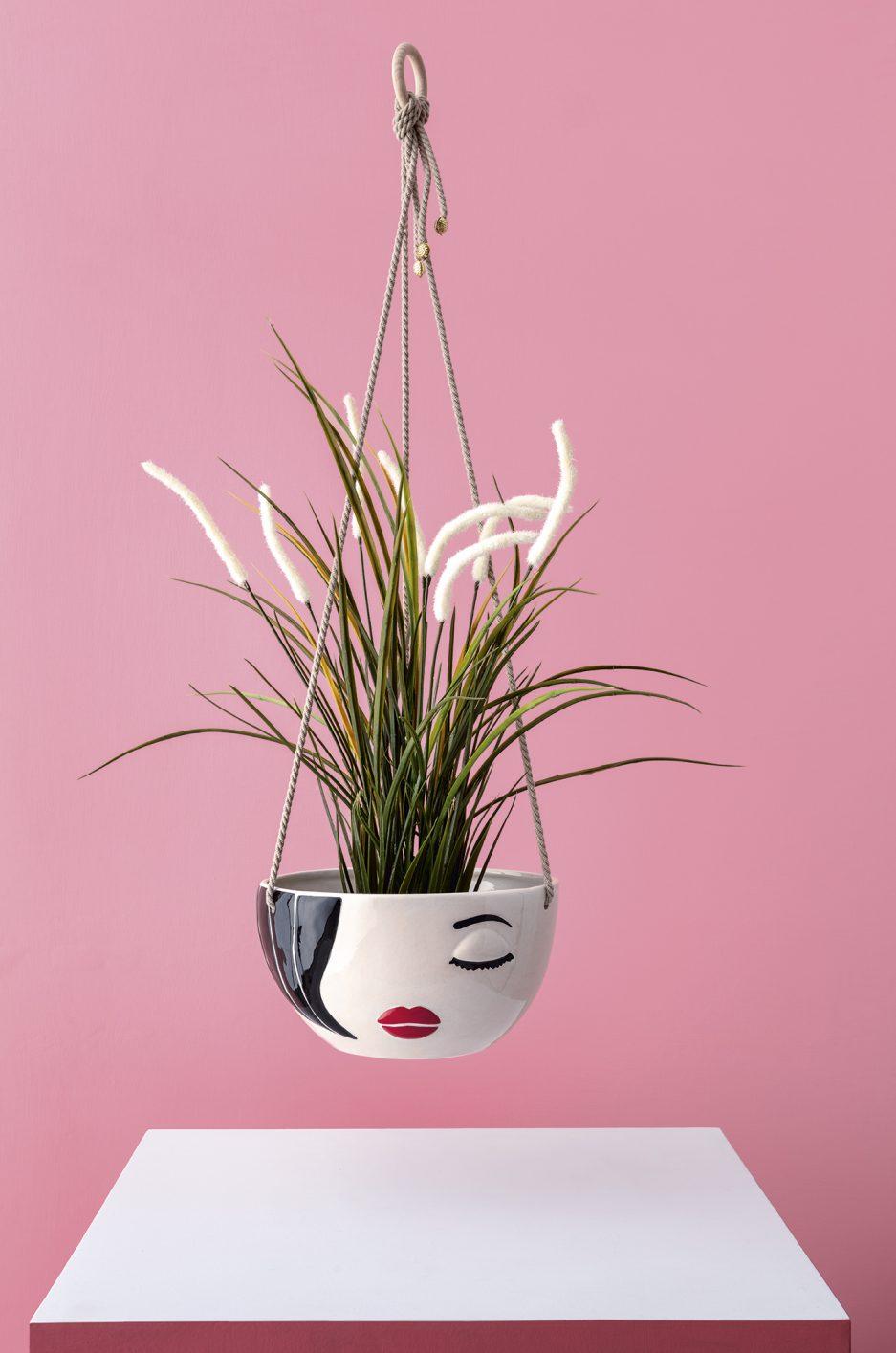 Vaso moderno da appendere in ceramica